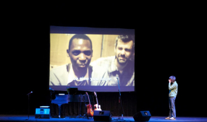 """Shaun speaking at """"Night of Compassion 2012 event."""