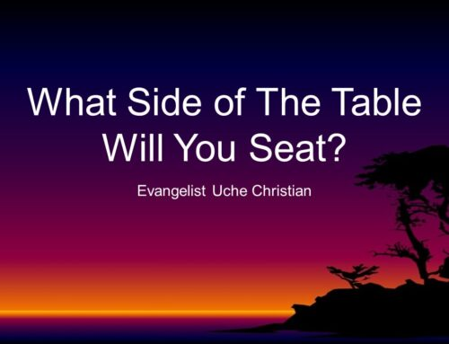 What Side of The Table Will You Seat On?